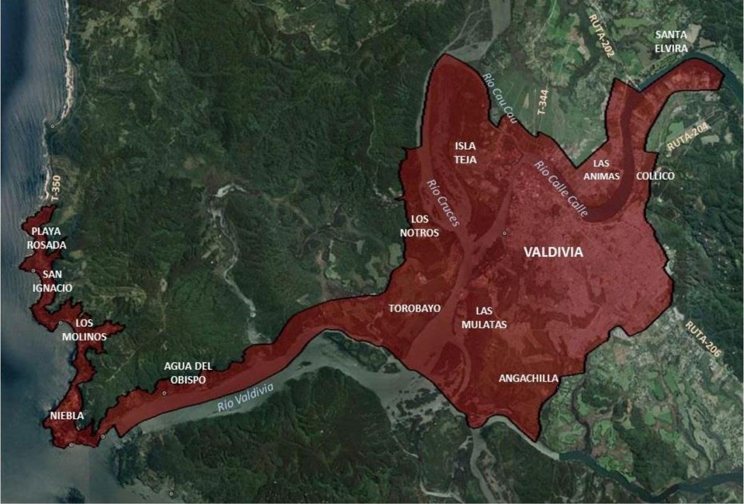 Limite Urbano de Valdivia