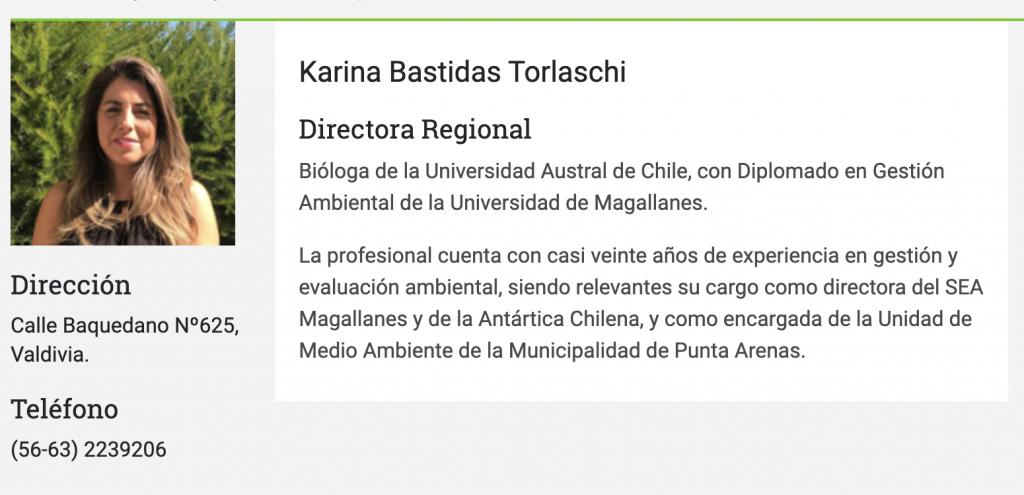 Karina Bastidas Torlaschi - Directora Regional SEA Los Rios
