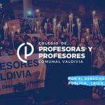 Declaración del Colegio de Profesores de Valdivia ante el violento allanamiento ocurrido en Bonifacio y Las Minas